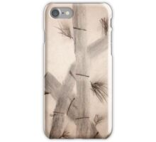 Sumi-E Close Up Segments and Leaves iPhone Case/Skin