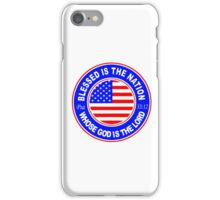 PSALM 33:12 - BLESSED IS THE NATION - USA iPhone Case/Skin