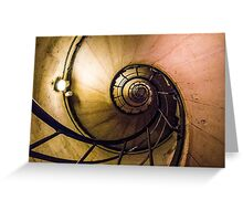 Spiral Staircase in the Arc de Triomphe Greeting Card