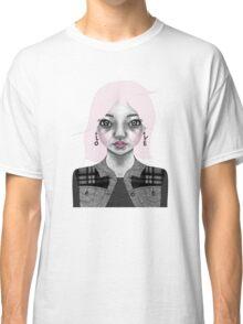 004 Long Pink Bob & L.O.V.E. Earrings Classic T-Shirt
