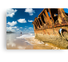 Fishing for Wrecks - SS Maheno Canvas Print