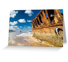 Fishing for Wrecks - SS Maheno Greeting Card