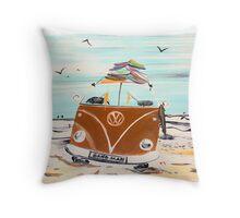 SAND MAN VW Kombi Camper Van Throw Pillow