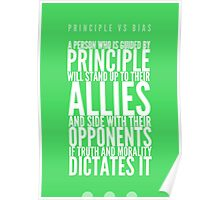 Principle vs Bias (1 of 2) Poster