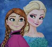 Frozen inspired painting by florasshop