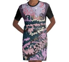 Dusk at the Deccan Plateau 2 Graphic T-Shirt Dress