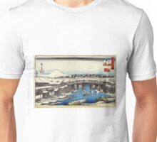 Nihonbashi Clearing After Snow - Hiroshige Ando - 1837 - woodcut Unisex T-Shirt