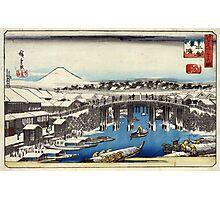 Nihonbashi Clearing After Snow - Hiroshige Ando - 1837 - woodcut Photographic Print
