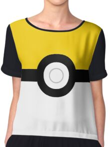 pokemon go instinct team pokeball yellow Chiffon Top