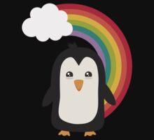 Rainbow Penguin   One Piece - Long Sleeve