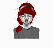 005 Red Hair & a Pretty Grey Bow Unisex T-Shirt