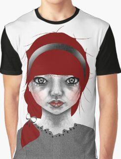 005 Red Hair & a Pretty Grey Bow Graphic T-Shirt