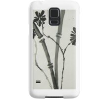 Ink Sumi-E, Simple Stalks to Flowers Samsung Galaxy Case/Skin