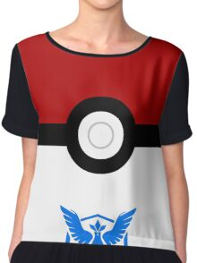 pokemon mystic team pokeball classic Chiffon Top