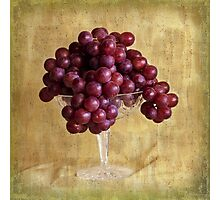 Grungy Grapes And Crystal  Photographic Print