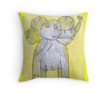 Elephant in the Sun Throw Pillow