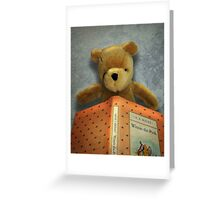 Winnie Reads Winnie Greeting Card