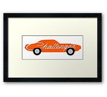 Stylized Dodge Challenger Framed Print