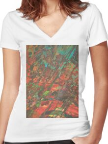 Feed your head I Women's Fitted V-Neck T-Shirt