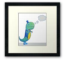 Dapper Dinosaur Framed Print