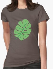 Jungle Leaves Womens Fitted T-Shirt