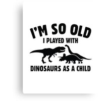 Played With Dinosaurs Canvas Print