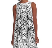 Diverse Reflection - Hawaiian Plant Series A-Line Dress
