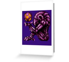 Super Metroid Pink Chozo Greeting Card