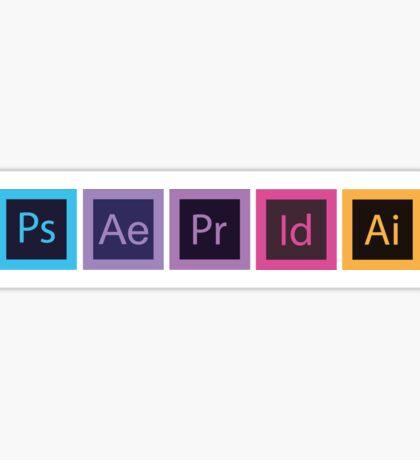 Logo Logiciels Adobe - Flat Sticker