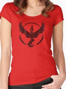 Pokemon GO: Team Valor (Red) - Word I Women's Fitted Scoop T-Shirt