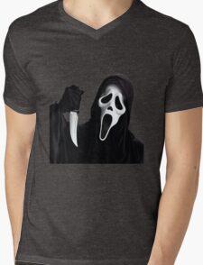 Ghostface Mens V-Neck T-Shirt