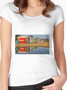 Brighton Beach Boxes with reflection Women's Fitted Scoop T-Shirt