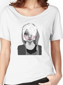 009 Platinum Hair & a Grey Hoodie Women's Relaxed Fit T-Shirt