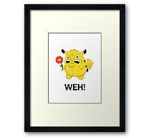 Pikachu WEH! Framed Print