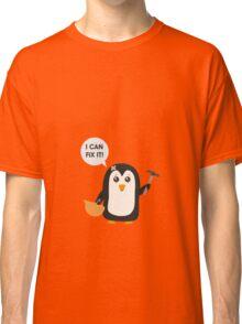 Construction worker Penguin   Classic T-Shirt