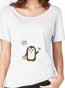 Construction worker Penguin   Women's Relaxed Fit T-Shirt