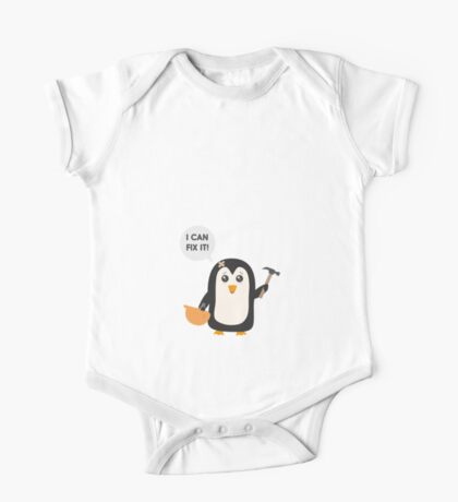 Construction worker Penguin   One Piece - Short Sleeve
