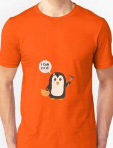 Construction worker Penguin   Unisex T-Shirt
