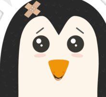 Construction worker Penguin   Sticker