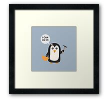 Construction worker Penguin   Framed Print