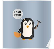 Construction worker Penguin   Poster