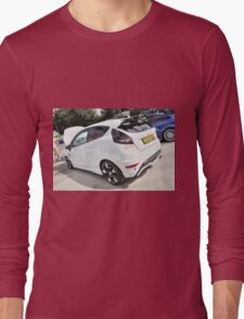 White and Black Fiesta Long Sleeve T-Shirt