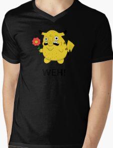 Pikachu WEH! Mens V-Neck T-Shirt