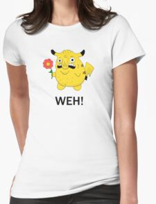 Pikachu WEH! Womens Fitted T-Shirt