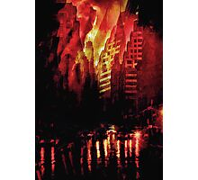Red city Photographic Print