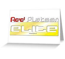 RED Platoon ELITE Greeting Card