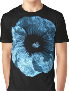 Flower Home Decor- Margeurite Blue Flower Graphic T-Shirt