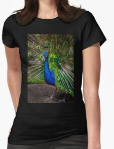 Pumapungo Peacock Womens Fitted T-Shirt