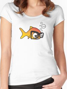 Geek Fish Women's Fitted Scoop T-Shirt