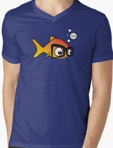 Geek Fish Mens V-Neck T-Shirt